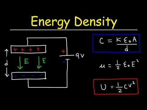 Energy Density of a Capacitor and Electric Field Energy - Physics