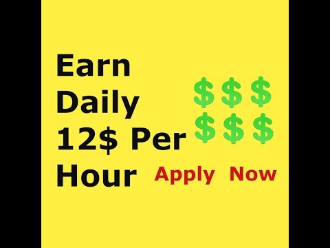 How to make 12$ hourly working from home(legitimate )