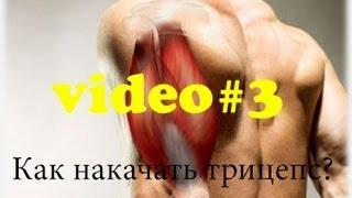 Как Накачать Трицепс без Железа?/ How to Build Triceps(Это краткий видео урок о том как с помощью трех простых упражнений можно накачать трицепс. музыка: https://soundclou..., 2013-08-22T12:42:25.000Z)