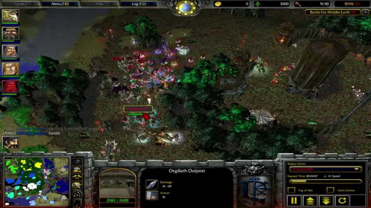 Warcraft 3 Custom Map Battle for Middle Earth 2  YouTube