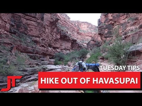 5 Tips For Hike Out of Havasupai Falls   Tuesday Tips Episode 2