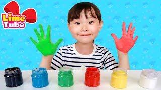 [라임 손가락 핑거송]빨강 파랑 노랑 초록 알록달록 손가락 핑거송 놀이 인기동요 어린이 영어동요 Kids Learn Colors with Finger Family Song 라임튜브