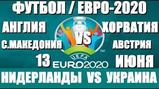 Футбол Евро 2020 Нидерланды Украина Англия Хорватия Австрия Македония Обзор расписание