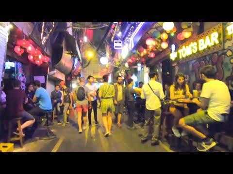 The Crazy Nightlife Street Scene In Hanoi, Vietnam