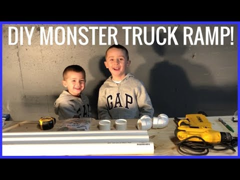 How to Build a Ramp for Toy Monster Jam Trucks! Do It Yourself!