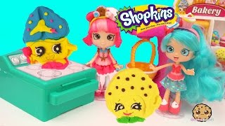 Jessicake & Donatina Shoppies Make Playdoh Shopkins Cookies with Cookie Cutters - Play Video