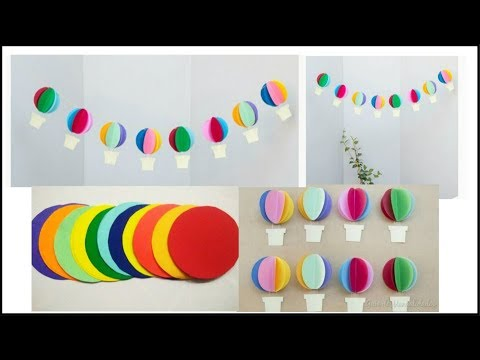 DIY Paper Hot Air Balloon Decor