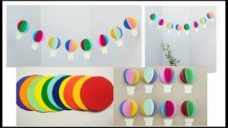 DIY Paper Hot Air Balloon Decor