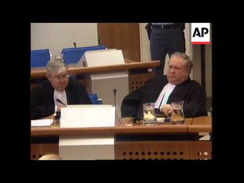 Holland - The Karadzic, Mladic & Stanisic Case