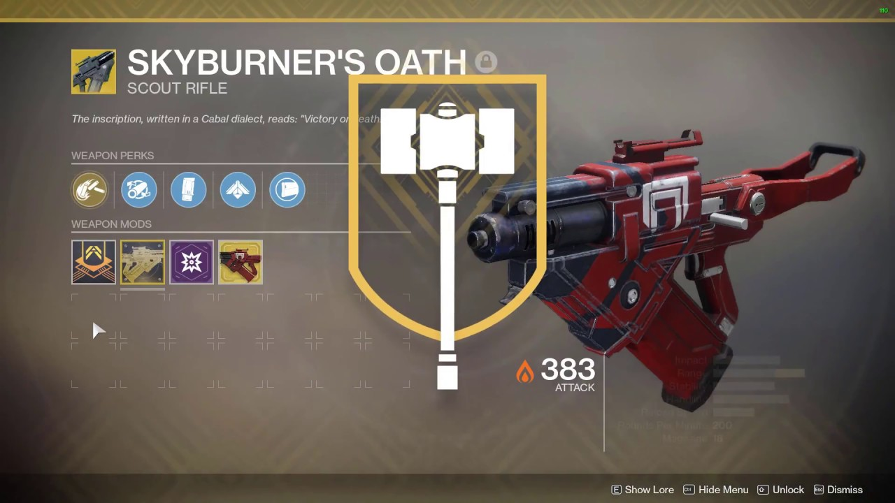 Destiny 2 Legend Of Acrius Catalyst Drop Rate Destiny 2 Skyburners Oath Catalyst Farm And Completion Youtube