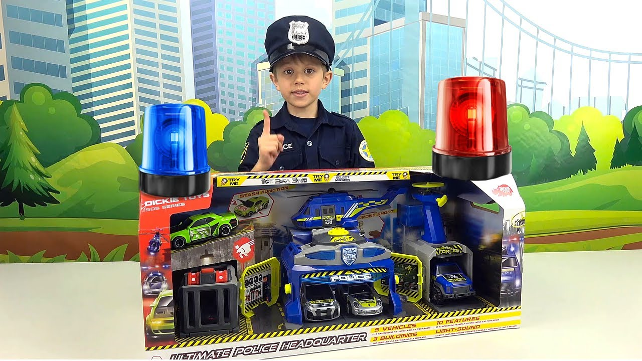 Полицейский Даник и полицейские машинки с участком против нарушителей закона на дорогах. 13+