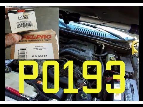 P0193 Fuel Rail Pressure Sensor Circuit High Input- Ford Explorer