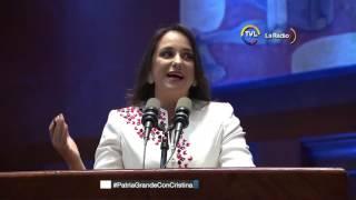 Asamblea Nacional condecoró a la exmandataria Cristina Fernández