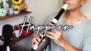Happier (Olivia Rodrigo) Recorder Flute Cover with Easy Letter Notes and Lyrics | Alto Recorder