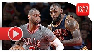 dwyane wade vs lebron james sick duel highlights 2016 12 02 bulls vs cavaliers brotherhood