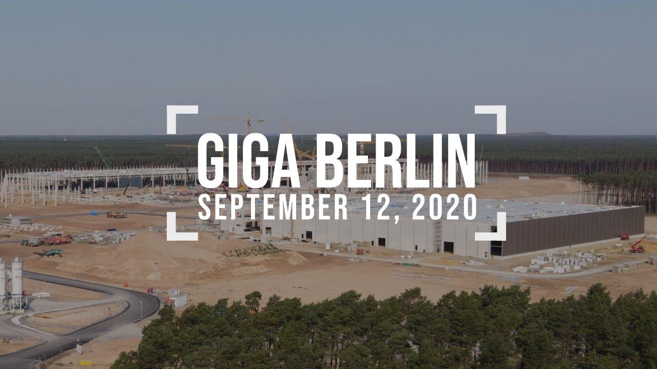 So much progress - September 12, 2020 - Tesla Giga Berlin - 4k drone footage