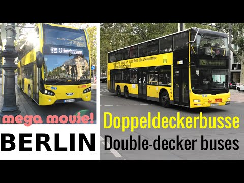 Doppeldeckerbusse Berlin VDL Citea + MAN * BVG Double-Decker Buses In Berlin 2019 MEGA MOVIE!