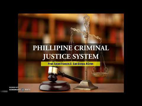 INTRODUCTION TO PHILIPPINE CRIMINAL JUSTICE SYSTEM PART 1 by the Professor
