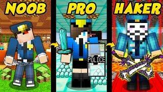 POLICJANT NOOB VS PRO VS HAKER W MINECRAFT!
