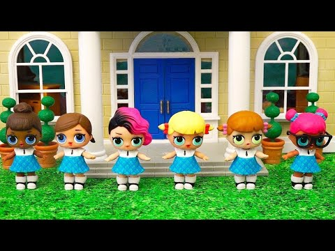 School Cheerleaders! Toys and Dolls Fun with LOL Surprise Babies - Baby Doll Play for Kids