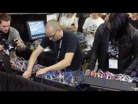 NAMM2015 Richard Devine and Surachai Performing at the Make Noise Booth