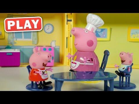 КукуРlay - РАСПАКОВКА Домик для Свинки Пеппы Кухня - Поиграйка с Пилотом Винтиком