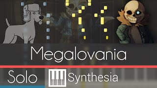 Megalovania [ANIMATED SOLO PIANO TUTORIAL] - Undertale OST -- Synthesia HD