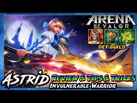 ASTRID Tanker Build - Tips & Tricks And REVIEW - Arena Of Valor [Indonesia]
