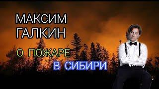 Смотреть МАКСИМ ГАЛКИН о пожаре в Сибири онлайн