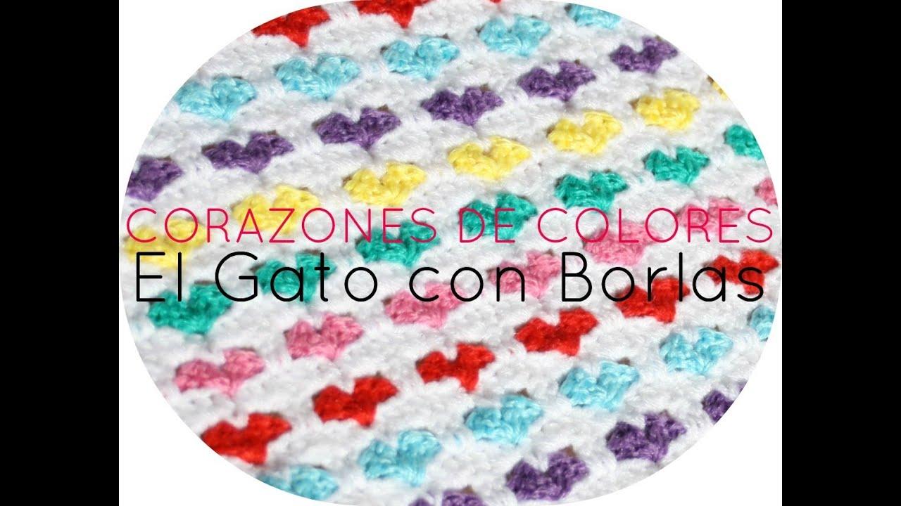 Encantador Corazón Patrón De Crochet Manta Colección de Imágenes ...