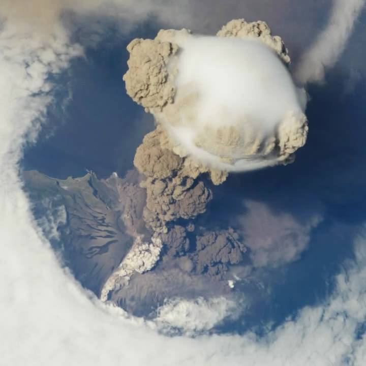 NASA | Sarychev Volcano Eruption from the International Space Station