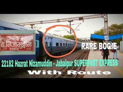 Very RARE Bogie with 22182 Hazrat Nizamuddin Jabalpur Express at Tughlakabad