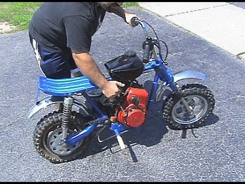 riding 1971 rupp hustler mini bike minor pull cord handle repair rh youtube com