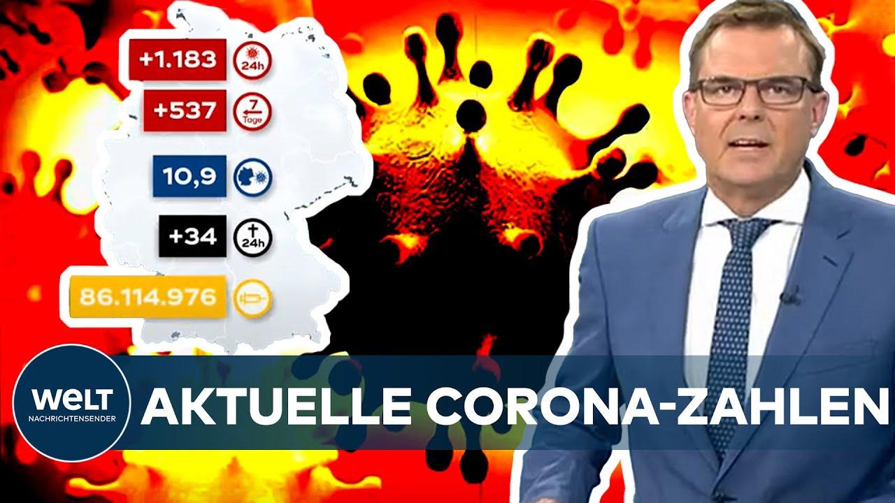 Download AKTUELLE CORONA-ZAHLEN: Covid19-Inzidenz steigt seit zwei Wochen - Wert jetzt bei 10,9 I WELT News
