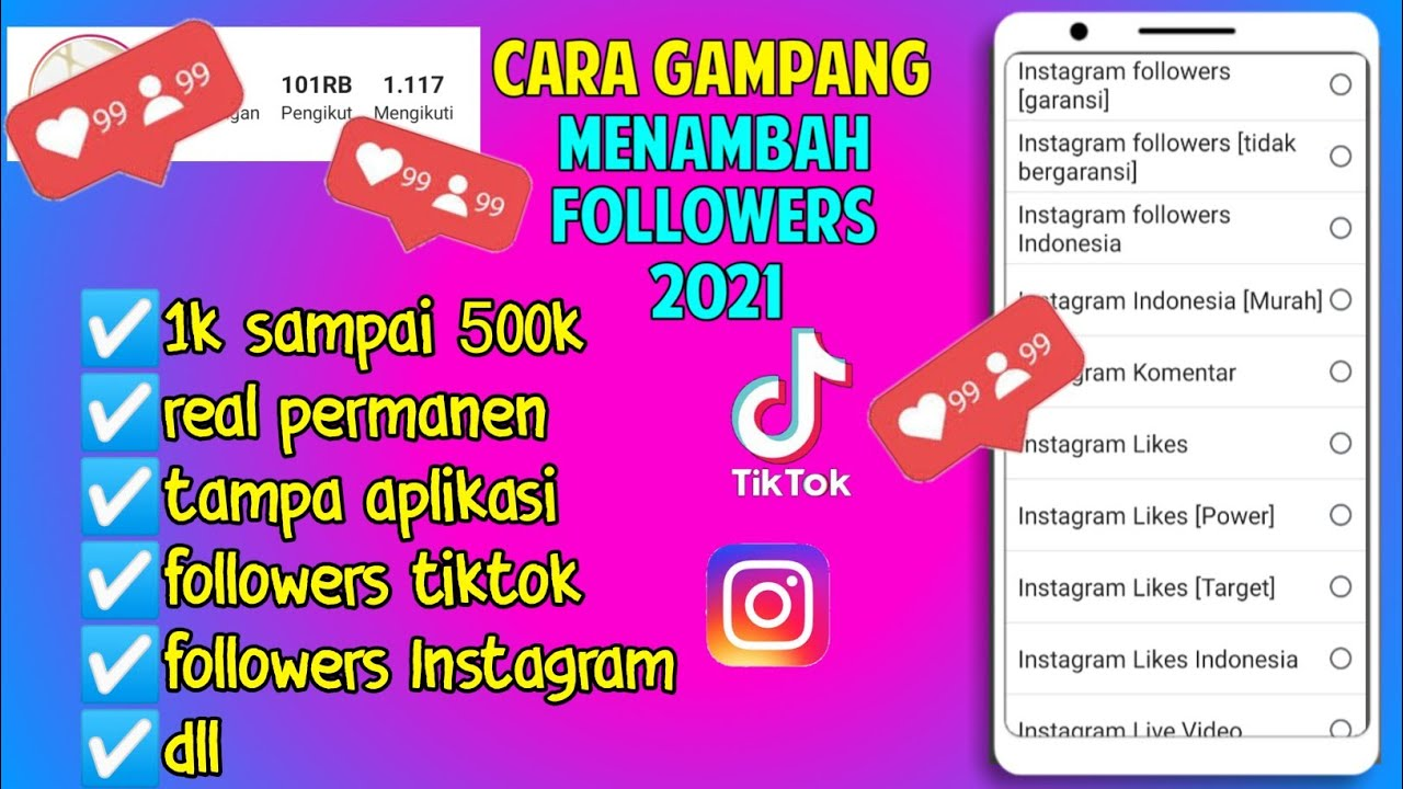 Cara menambah followers Instagram permanen terbaru 2021 aman dan cepat