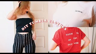 DIY Tumblr Inspired Clothes // Brandy Tube Top, Embroidery, Crop Top etc.