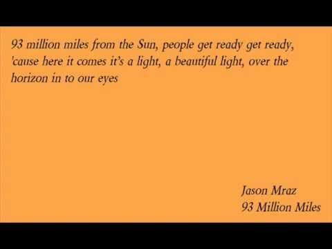 Jason Mraz  93 Million Miles Lyrics
