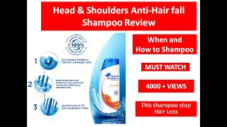 Head and Shoulders Anti Hair-fall Shampoo Review