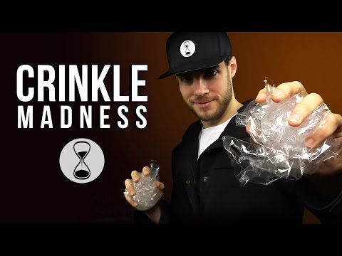 ASMR CRINKLE MADNESS   Intense 3D Crinkling, Triggering Materials & Male Whispering