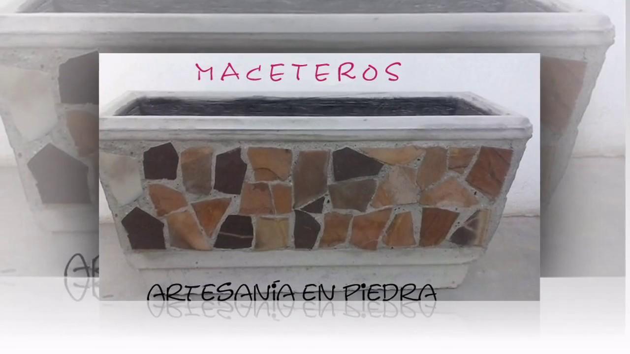 Macetero con piedra laja pedro molina ferrales youtube for Como hacer color piedra