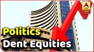 Politics Dent Equities; Sensex Plunges   Kaun Banega Mukhyamantri   ABP News