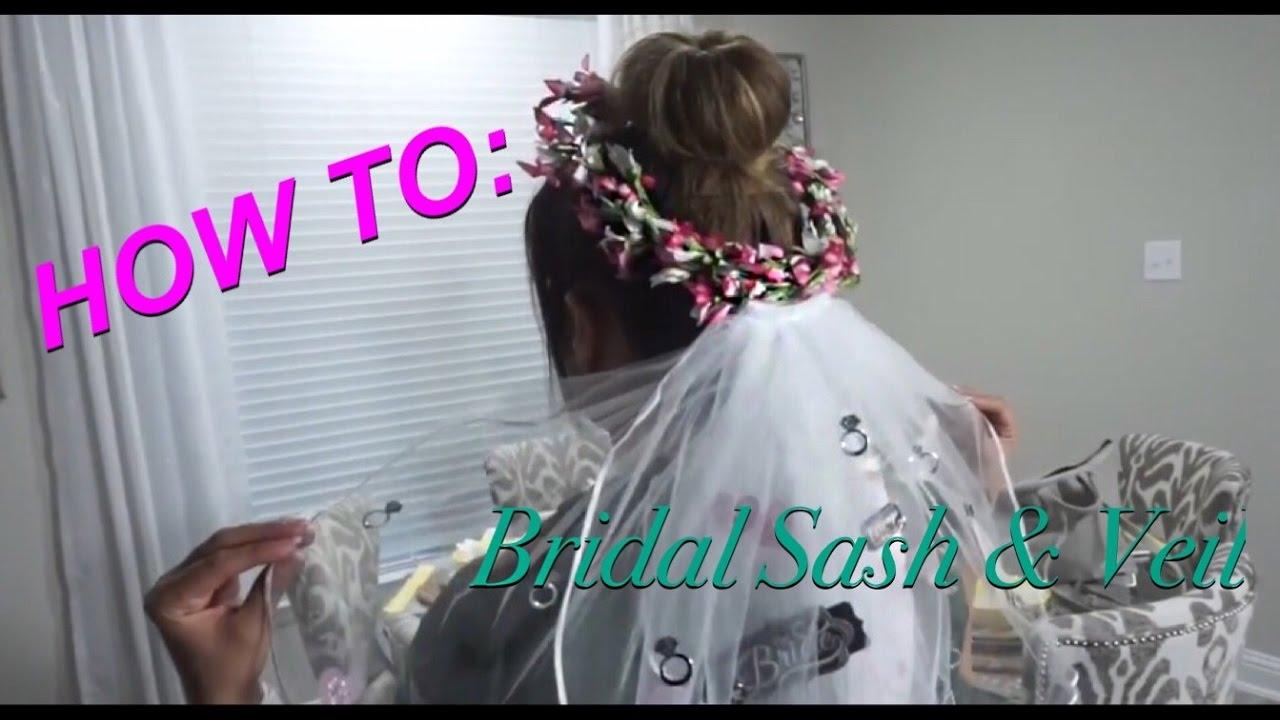 HOW TO Make A Bridal Sash And Veil