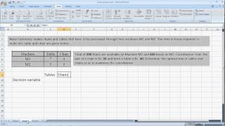 Linear Programming with Excel Solver