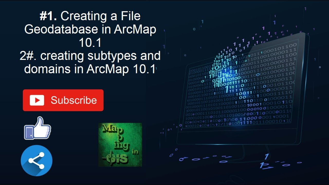 Creating and editing a File Geodatabase, Subtypes and Domains in ArcMap -  Mapping in GIS