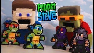 Ninja Turtles Teenage Mutant TMNT NES cartoon Movie Arcade Pixel Pals Minecraft Toys 8-bit Figures