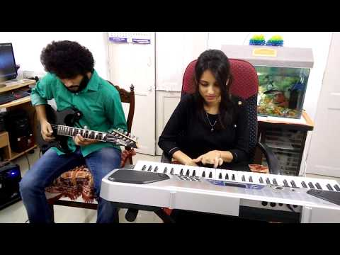 Mere Dholna Sun Full Sargam | Guitar And Synth Cover | By Pranjal Srivastava And Swarnika Srivastava