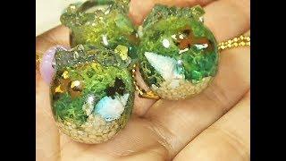 UVレジン モールドほぼ不使用『手のひらアクアリウム』金魚鉢風  を作るよヾ(´▽`*)ゝ  resin thumbnail