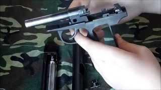 Разборка пневматического пистолета МП 654К Байкал