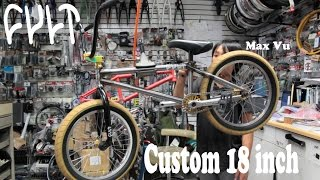 "CUSTOM BMX 18"" CULT HAWK BUILD UP W/ MAX VU"