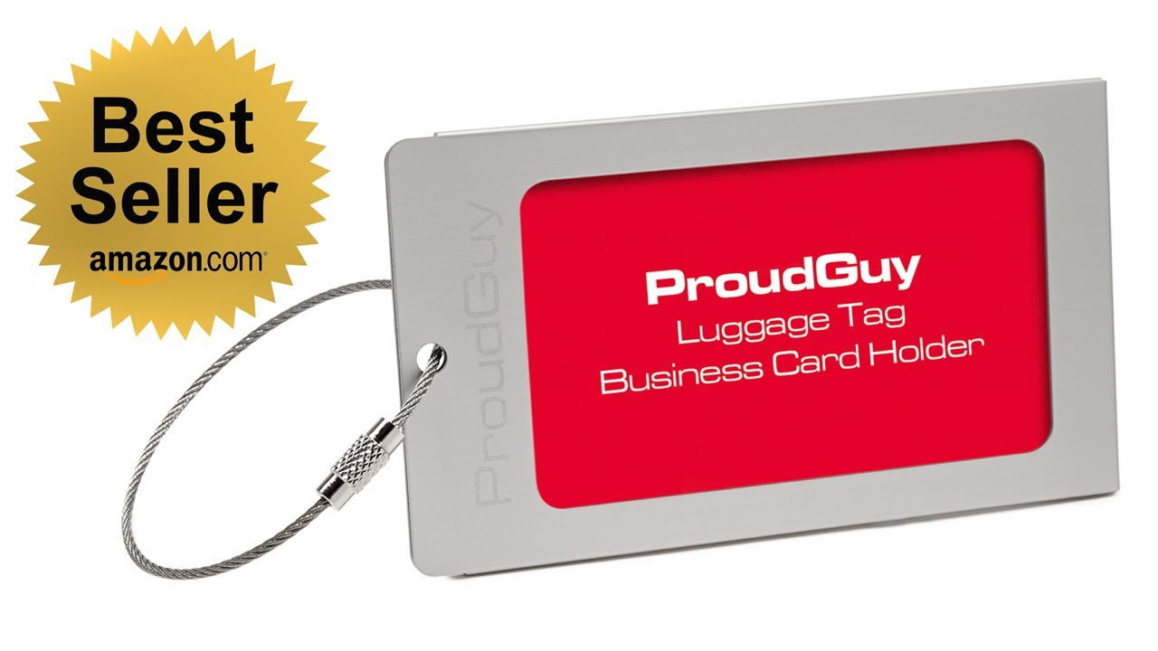 Best Luggage Tags Reviews Proudguy Id Tag Silver Metal Review Video Training